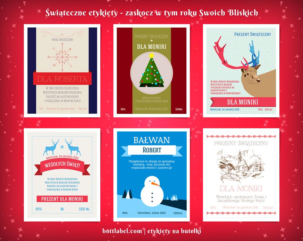 Etykiety świąteczne bottlabel