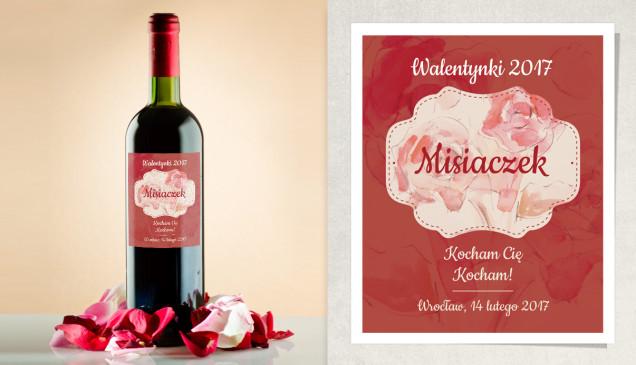 Etykieta na wino walentynkowe