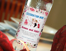 Wedding vodka label 2