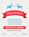 Etykieta na prezent świąteczny 27