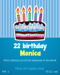 Birthday party label 4