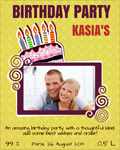 Birthday party label 21