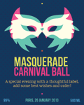 Carnival ball label 32