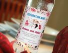 Wedding vodka label 2